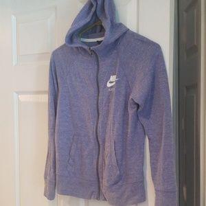 Girls large Nike hoodie purple new no tags